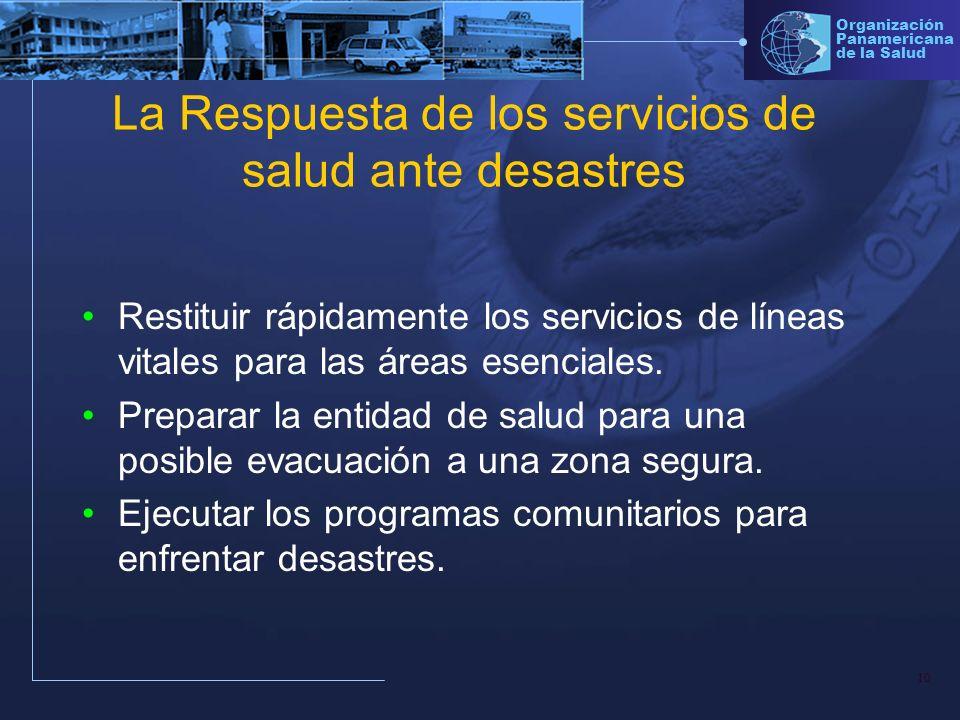 La Respuesta de los servicios de salud ante desastres