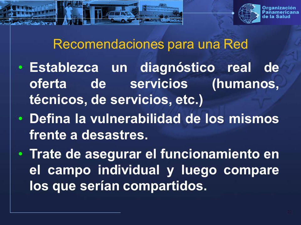 Recomendaciones para una Red