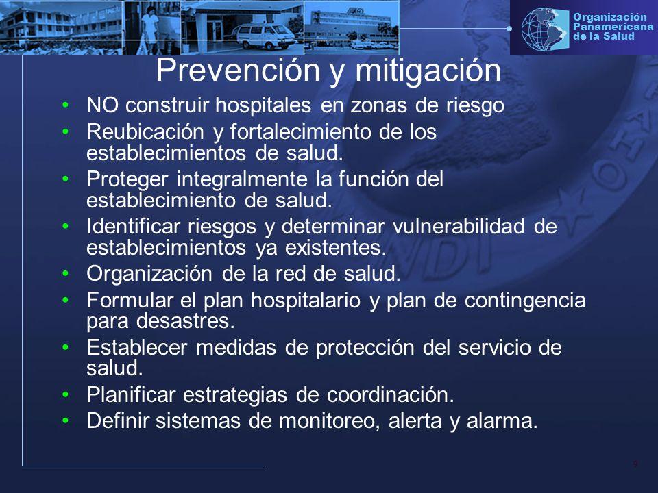 Prevención y mitigación