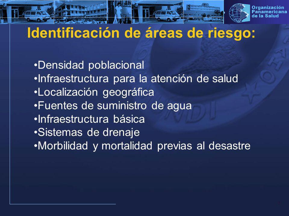 Identificación de áreas de riesgo: