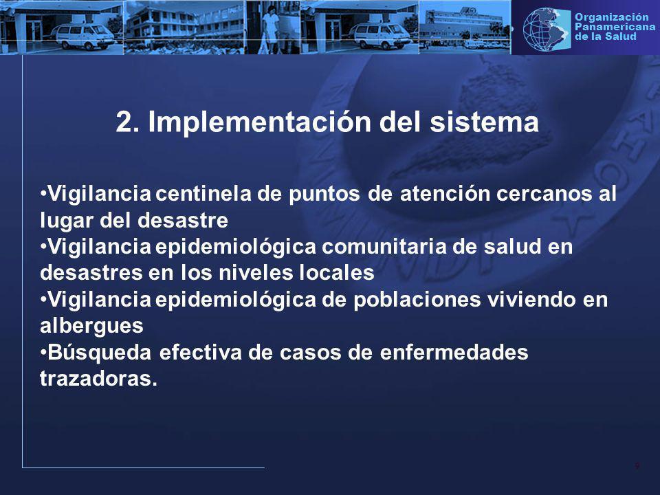 2. Implementación del sistema