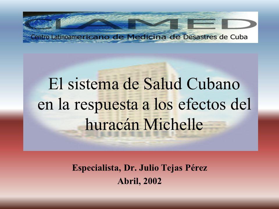 Especialista, Dr. Julio Tejas Pérez Abril, 2002
