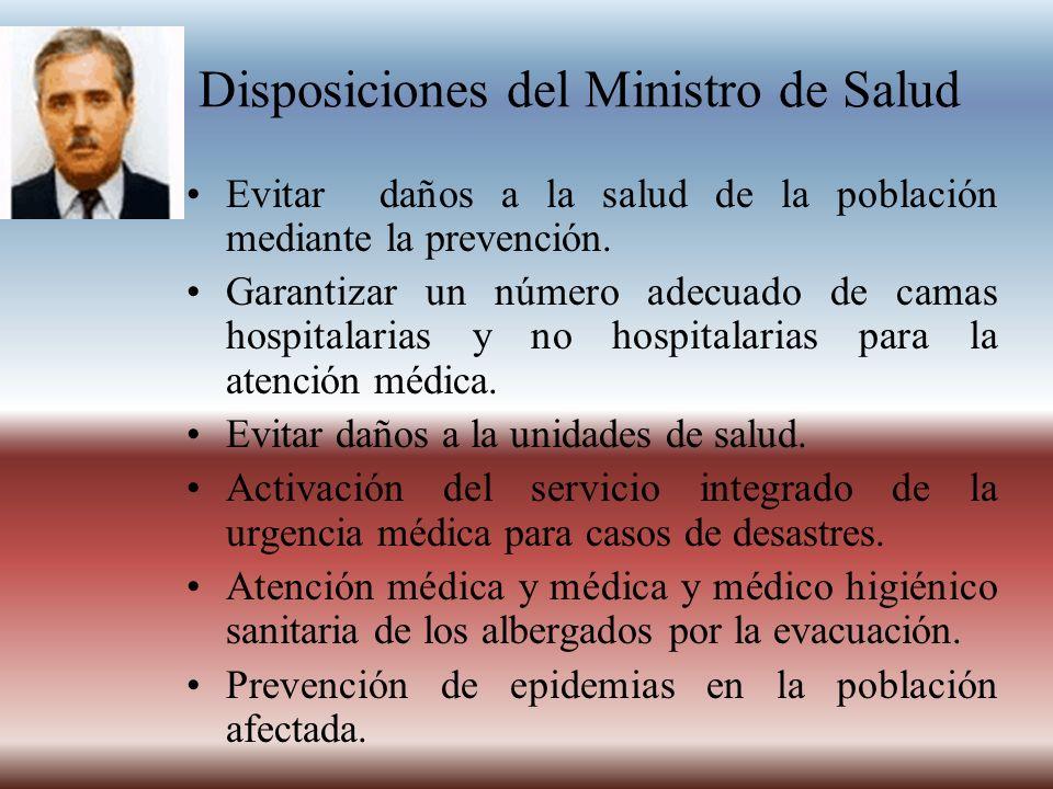 Disposiciones del Ministro de Salud