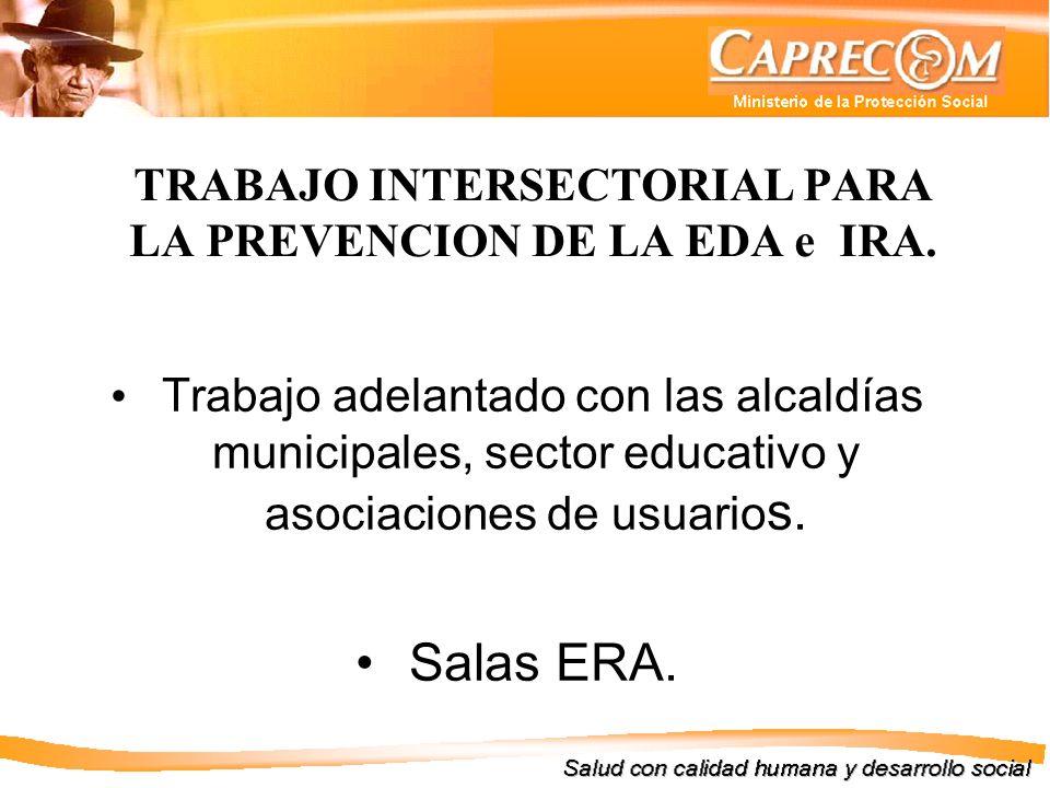 TRABAJO INTERSECTORIAL PARA LA PREVENCION DE LA EDA e IRA.