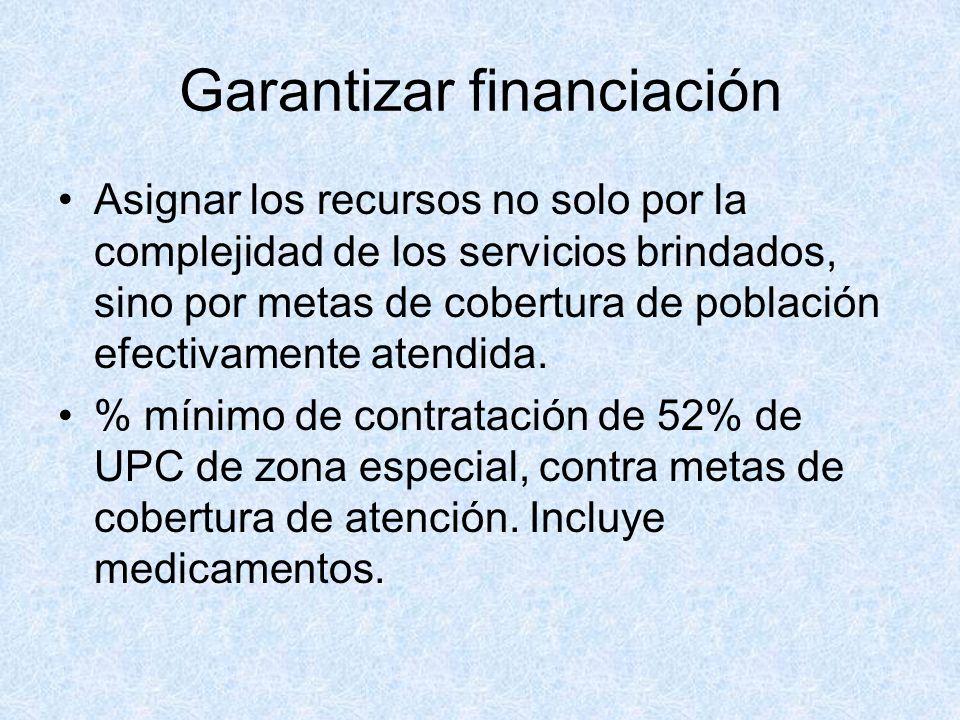 Garantizar financiación