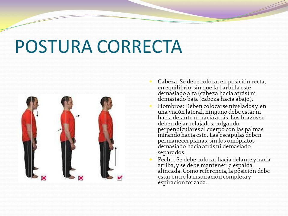 POSTURA CORRECTA