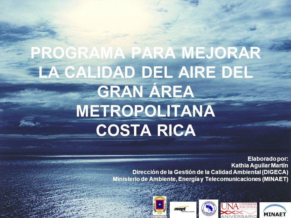 PROGRAMA PARA MEJORAR LA CALIDAD DEL AIRE DEL GRAN ÁREA METROPOLITANA COSTA RICA