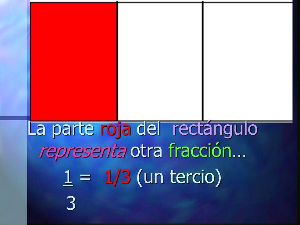 La parte roja del rectángulo representa otra fracción…