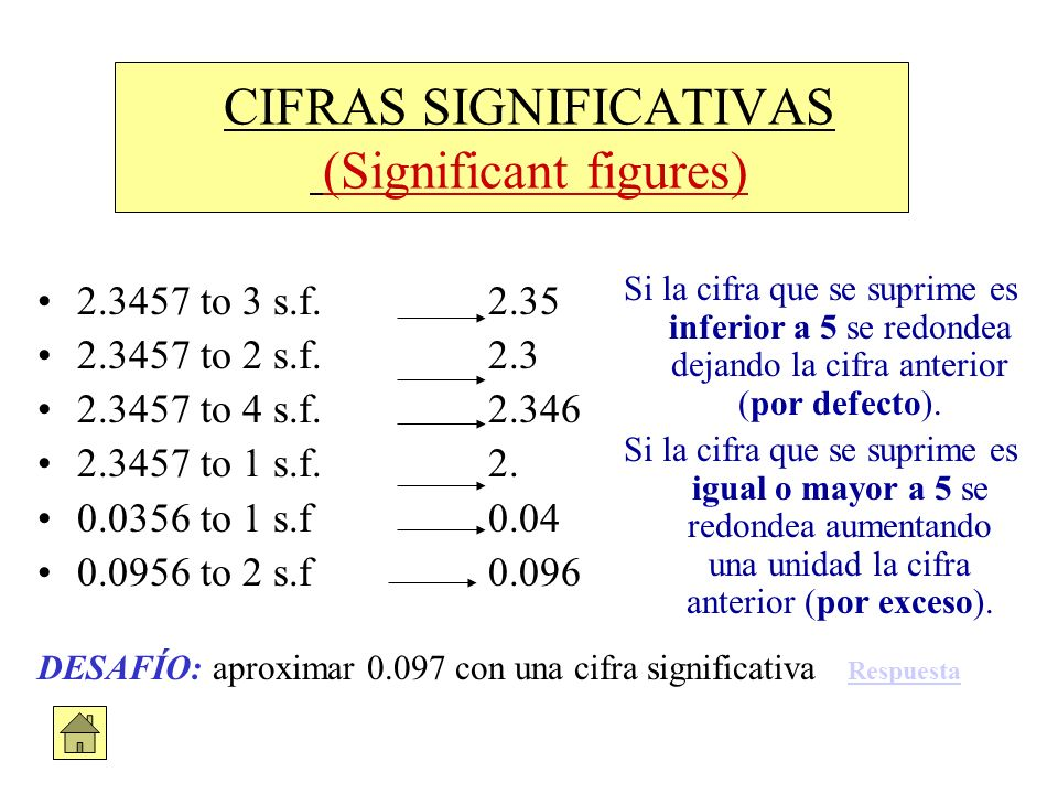 CIFRAS SIGNIFICATIVAS (Significant figures)