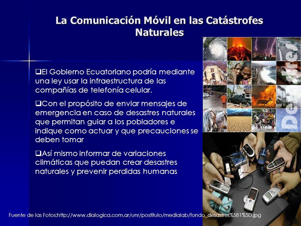 La Comunicación Móvil en las Catástrofes Naturales