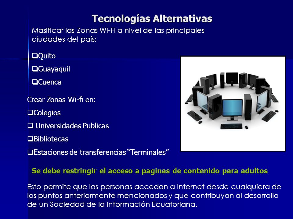 Tecnologías Alternativas