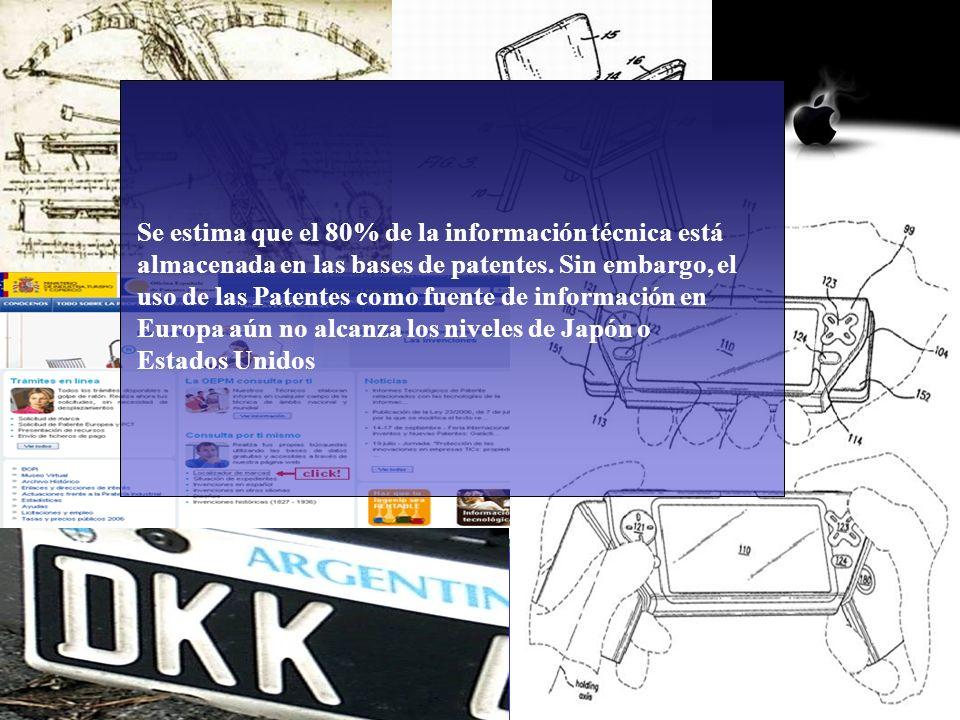 Se estima que el 80% de la información técnica está almacenada en las bases de patentes. Sin embargo, el uso de las Patentes como fuente de información en