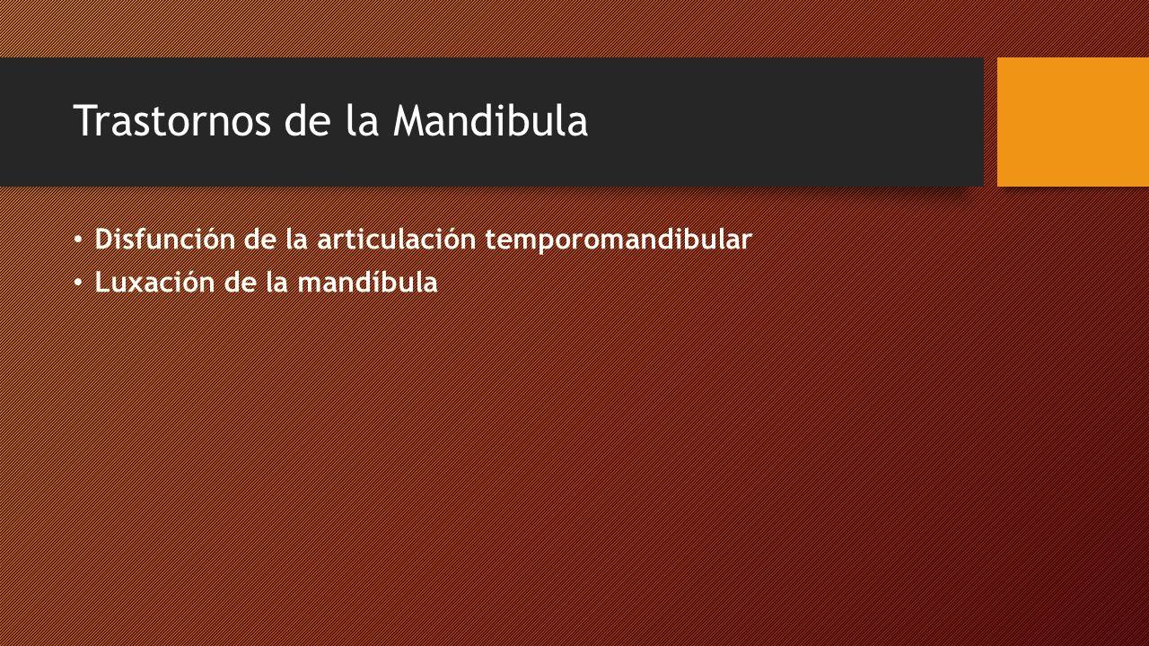 Trastornos de la Mandibula