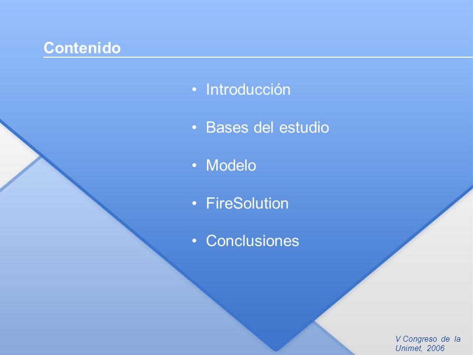 Contenido Introducción Bases del estudio Modelo FireSolution Conclusiones