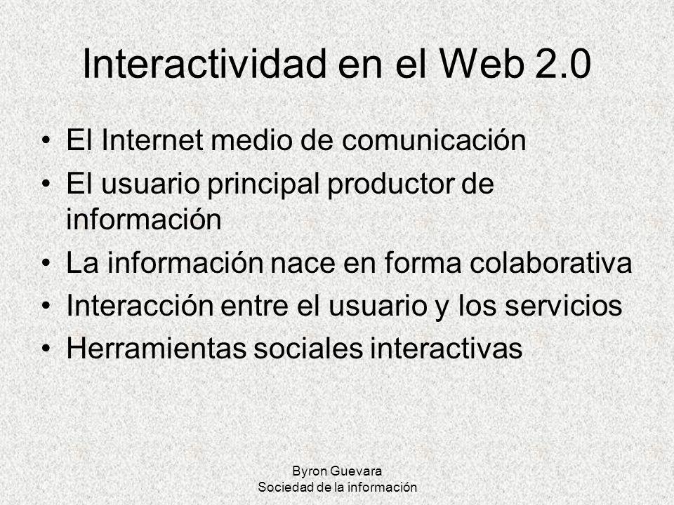 Interactividad en el Web 2.0