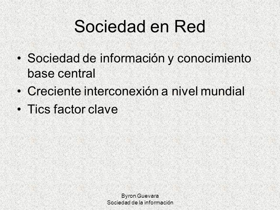 Byron Guevara Sociedad de la información