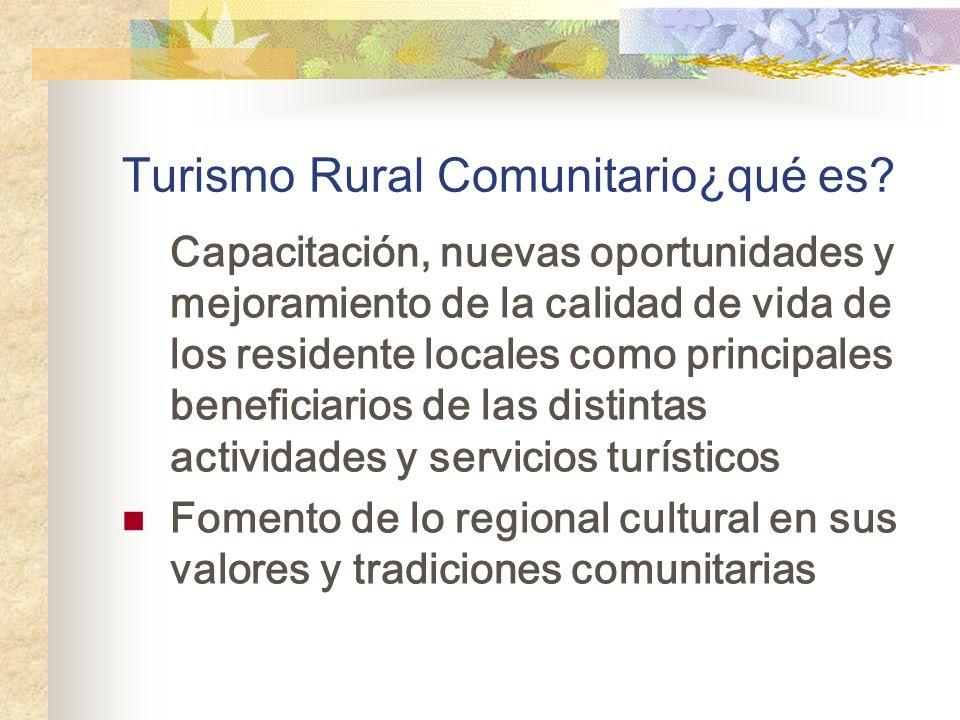 Turismo Rural Comunitario¿qué es