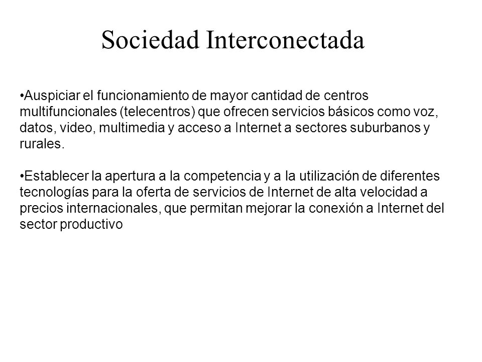 Sociedad Interconectada