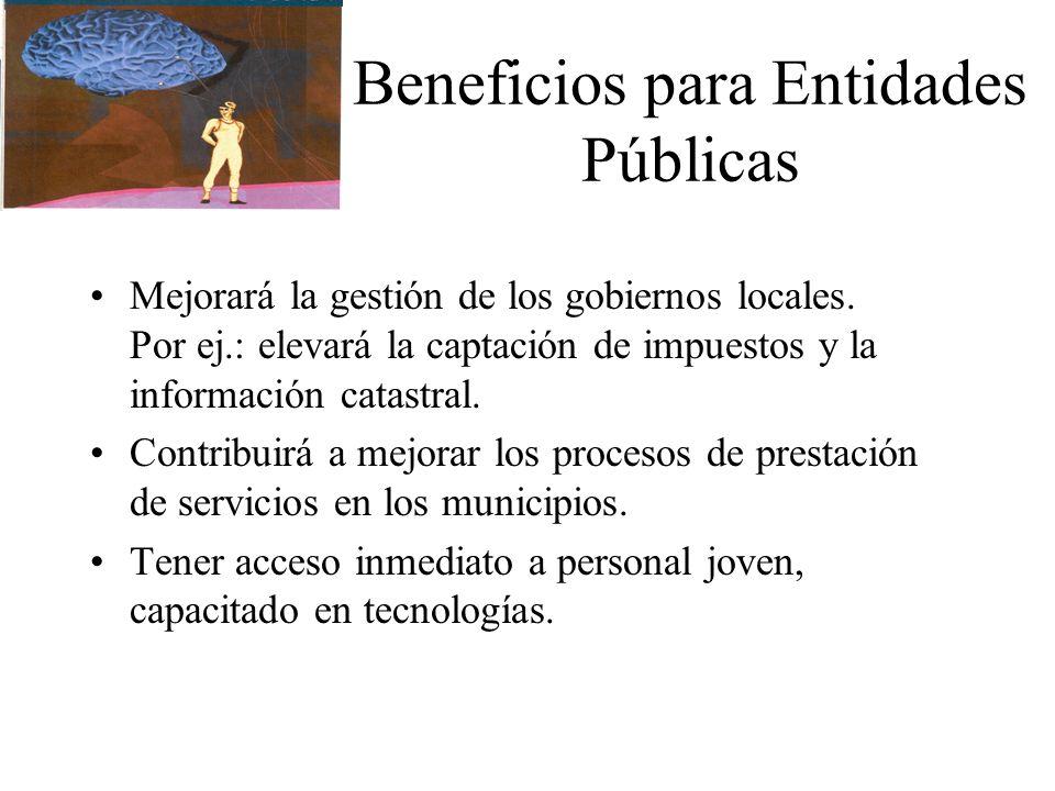 Beneficios para Entidades Públicas
