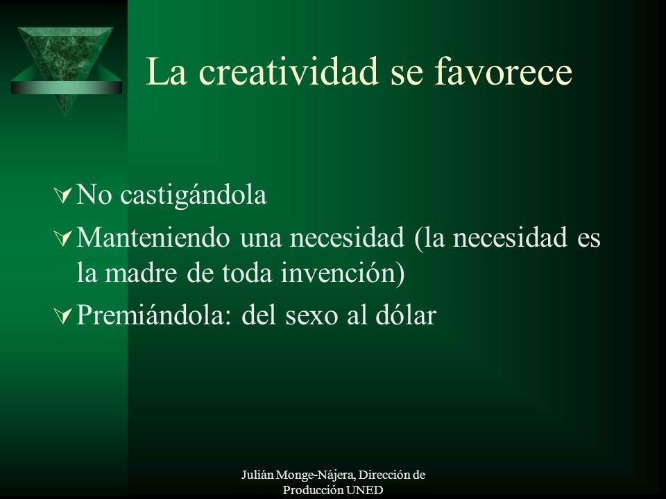 La creatividad se favorece