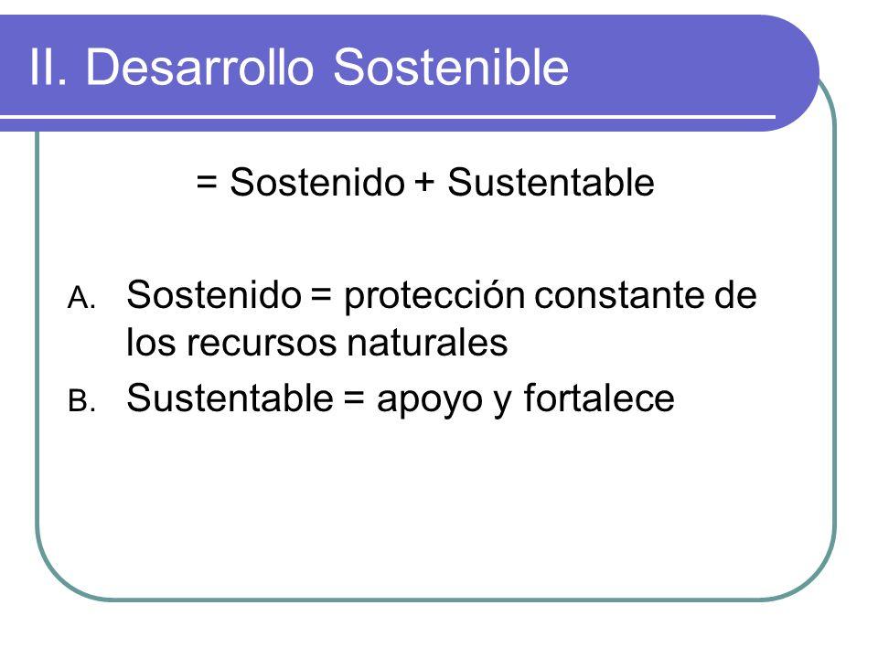 II. Desarrollo Sostenible