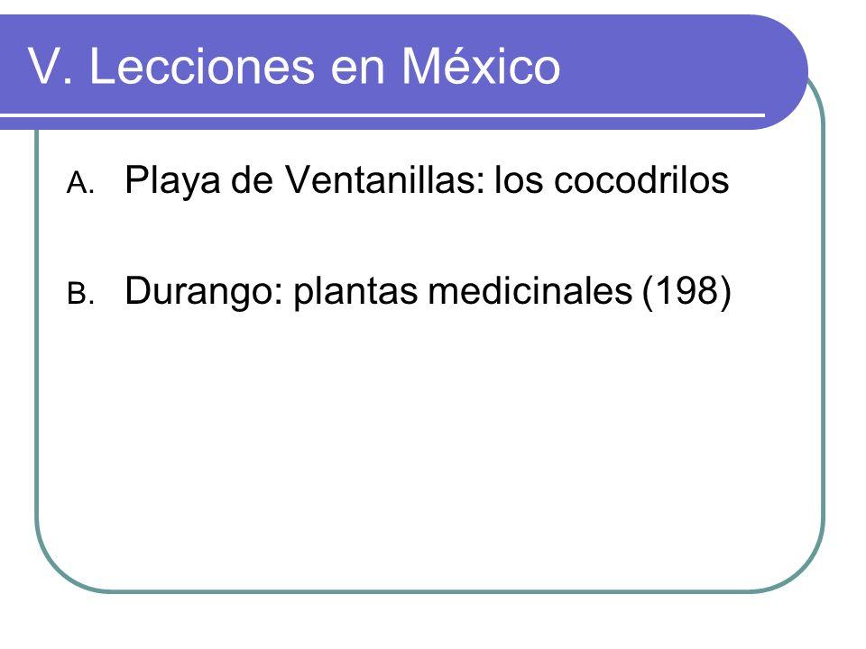 V. Lecciones en México Playa de Ventanillas: los cocodrilos