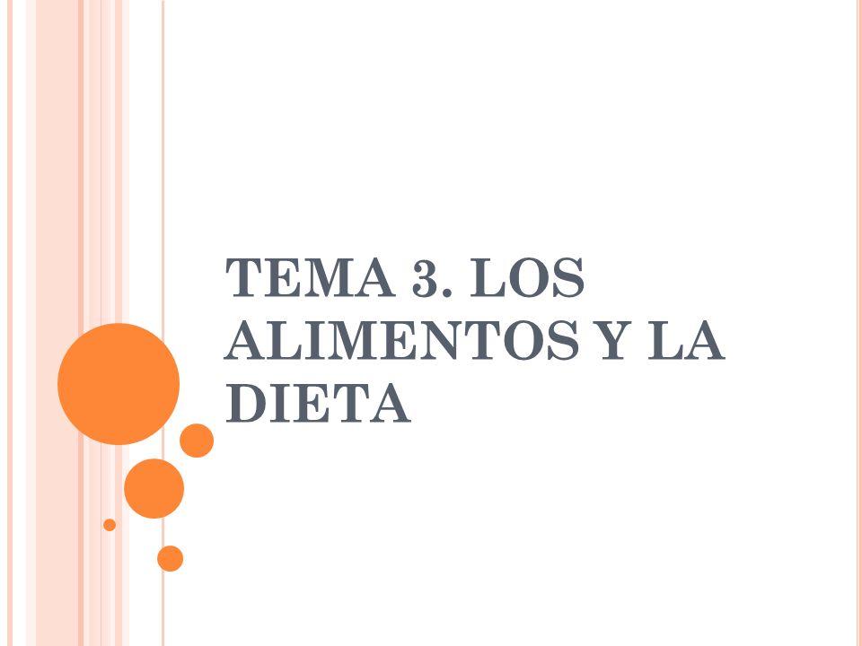 TEMA 3. LOS ALIMENTOS Y LA DIETA