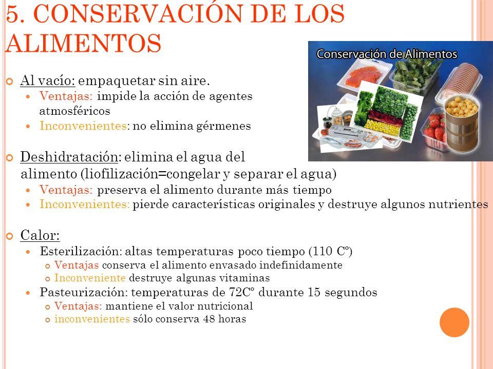 5. CONSERVACIÓN DE LOS ALIMENTOS