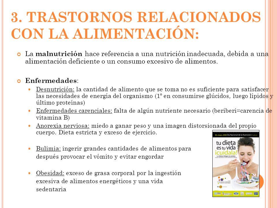 3. TRASTORNOS RELACIONADOS CON LA ALIMENTACIÓN: