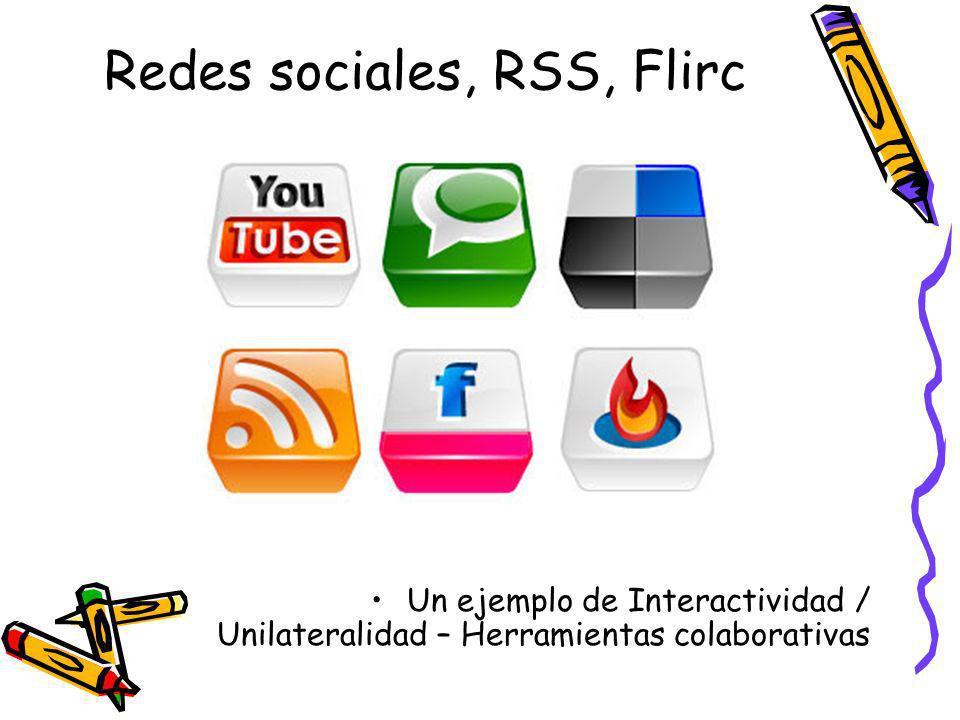 Redes sociales, RSS, Flirc