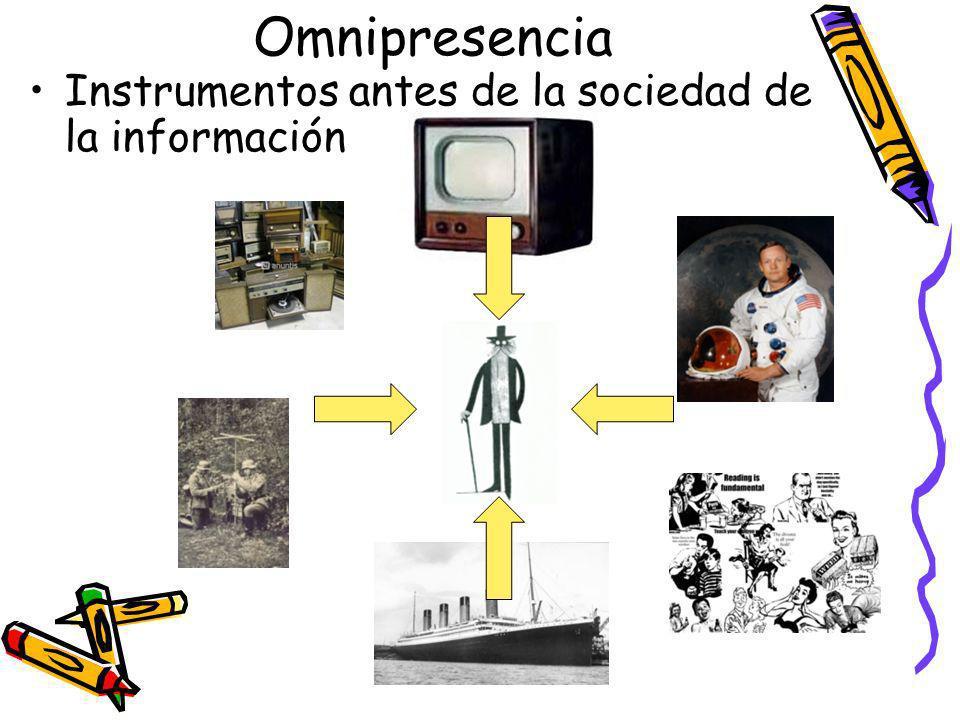 Omnipresencia Instrumentos antes de la sociedad de la información