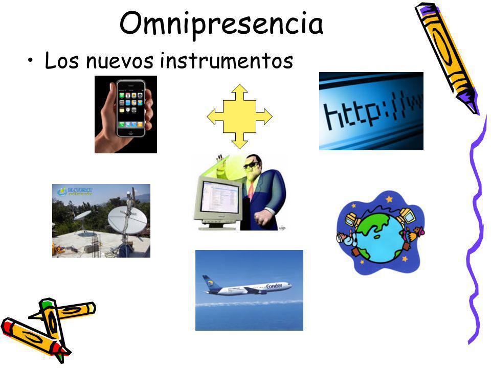 Omnipresencia Los nuevos instrumentos