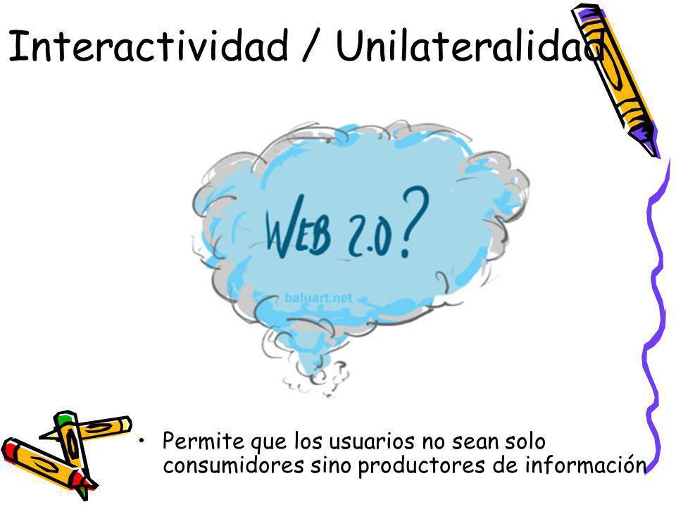 Interactividad / Unilateralidad
