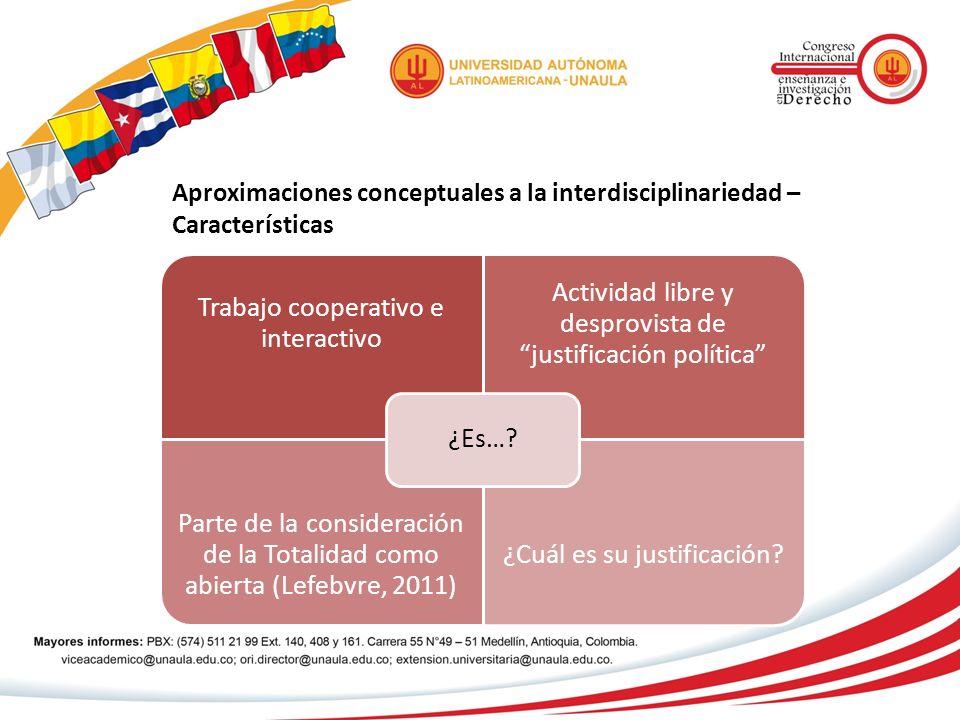Aproximaciones conceptuales a la interdisciplinariedad – Características