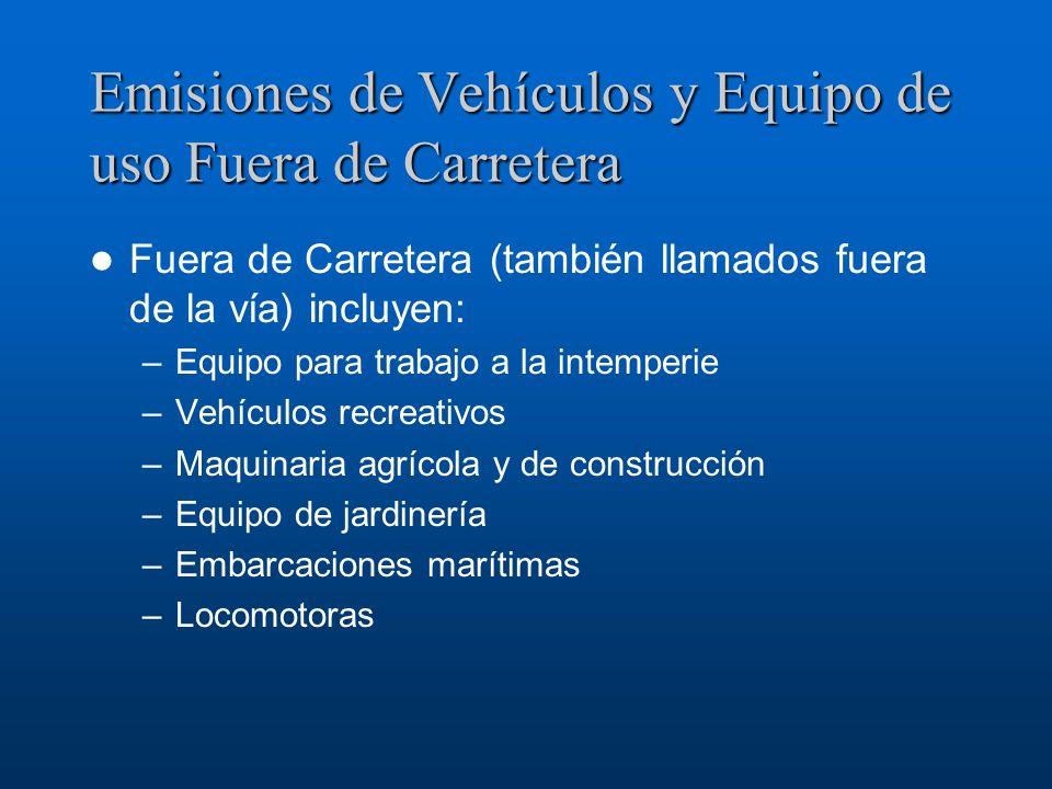 Emisiones de Vehículos y Equipo de uso Fuera de Carretera