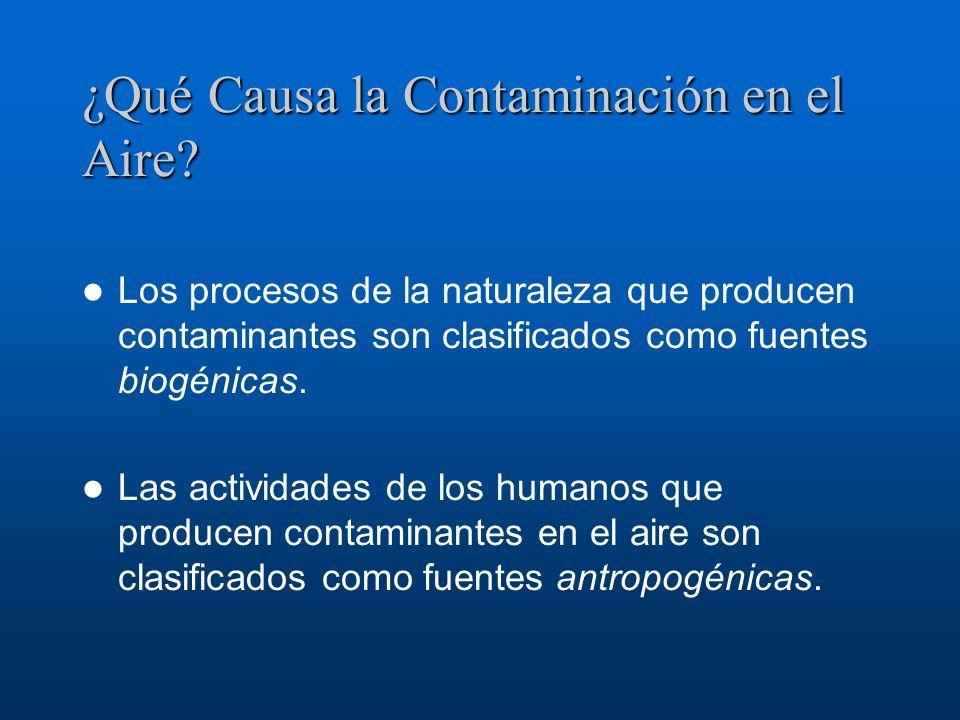 ¿Qué Causa la Contaminación en el Aire