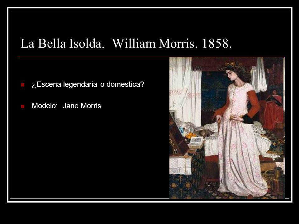 La Bella Isolda. William Morris. 1858.