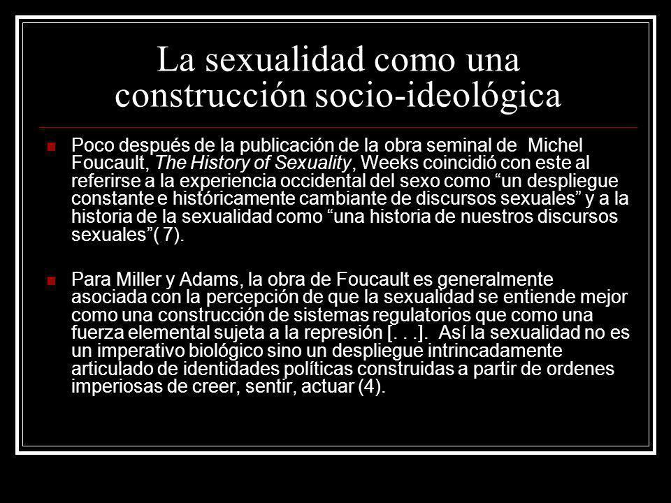 La sexualidad como una construcción socio-ideológica