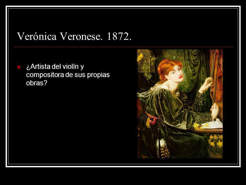 Verónica Veronese. 1872. ¿Artista del violín y compositora de sus propias obras