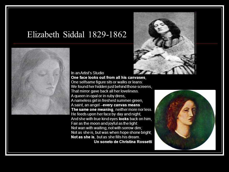 Elizabeth Siddal 1829-1862 In an Artist's Studio