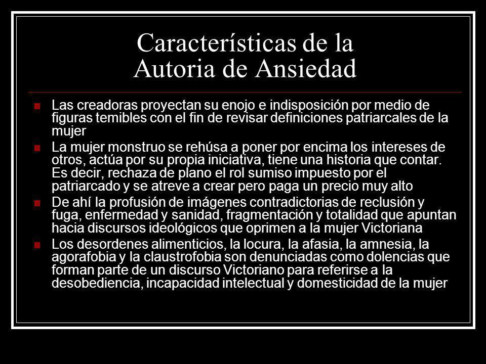 Características de la Autoria de Ansiedad