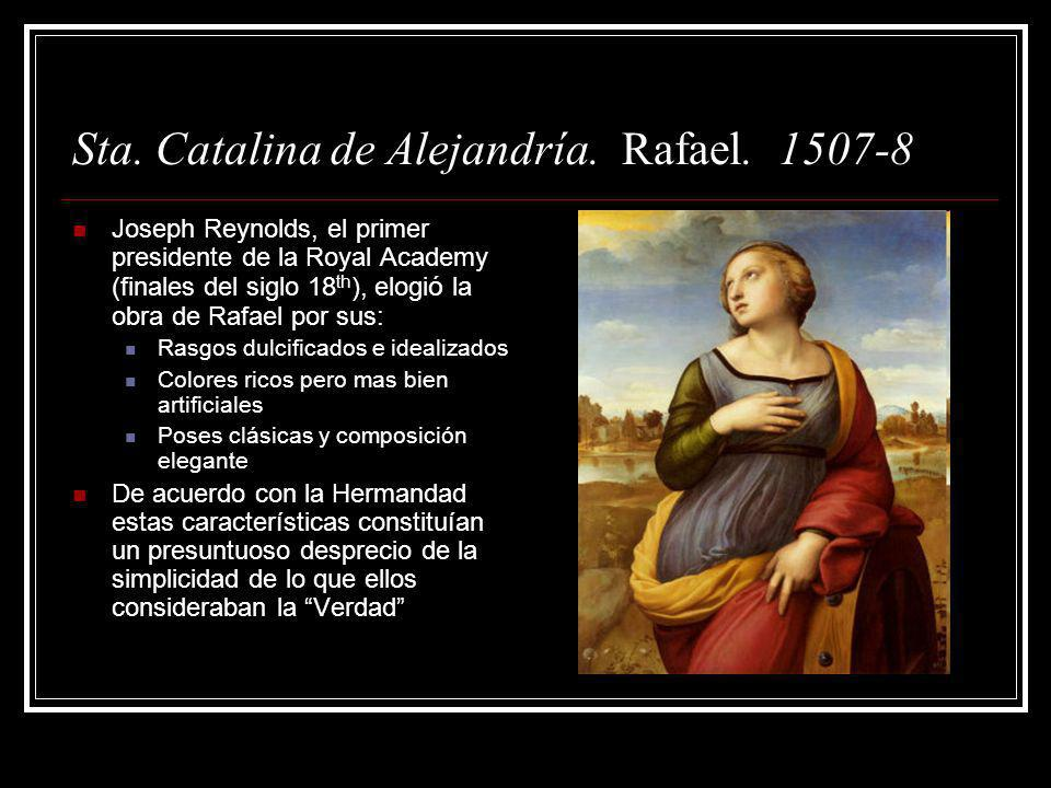 Sta. Catalina de Alejandría. Rafael. 1507-8