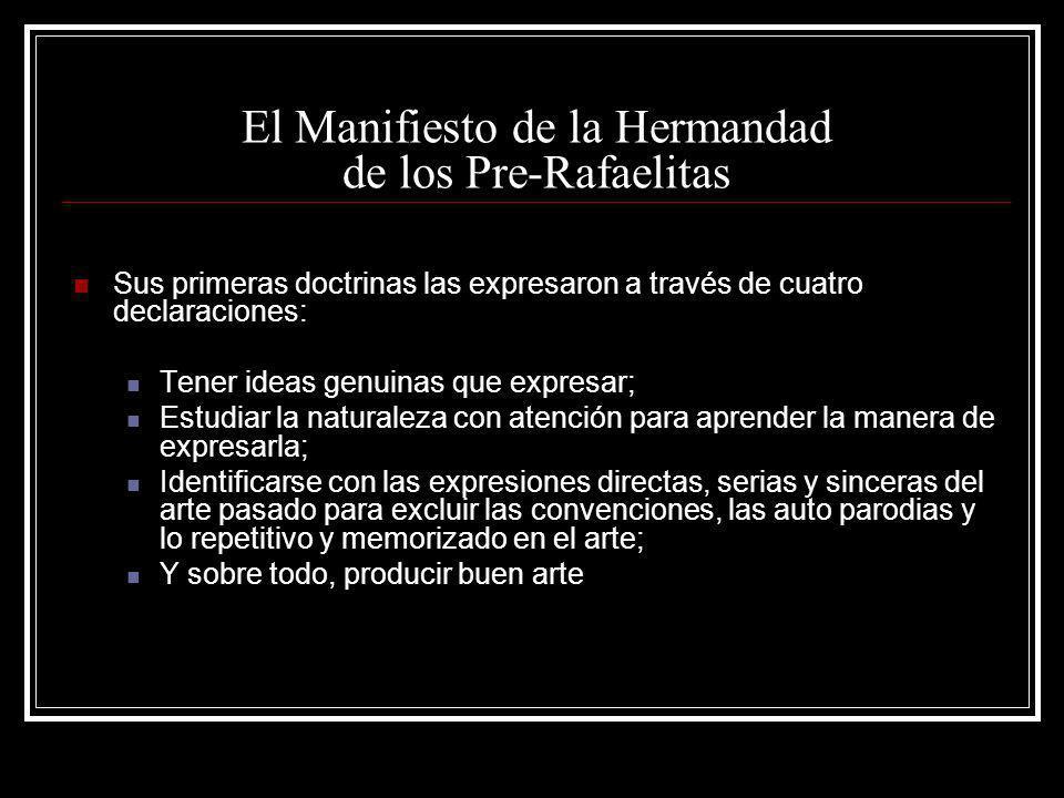 El Manifiesto de la Hermandad de los Pre-Rafaelitas