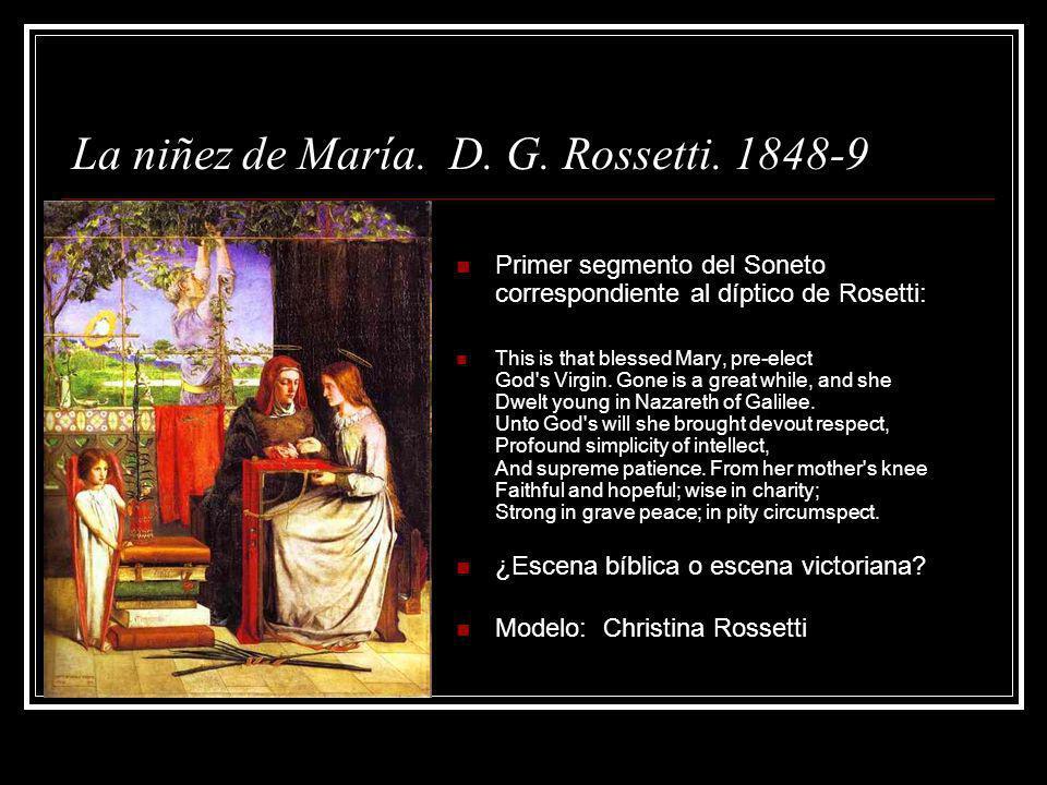 La niñez de María. D. G. Rossetti. 1848-9