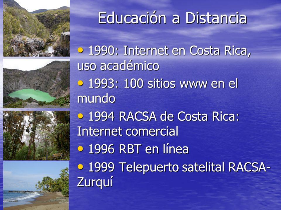 Educación a Distancia 1990: Internet en Costa Rica, uso académico