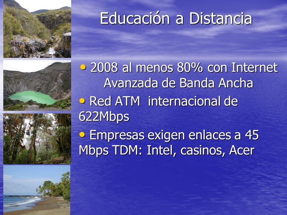 2008 al menos 80% con Internet Avanzada de Banda Ancha