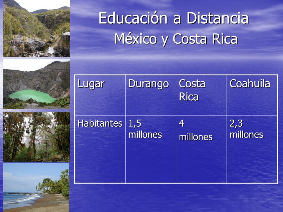 Educación a Distancia México y Costa Rica Lugar Durango Costa Rica