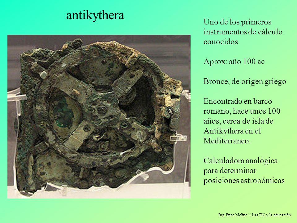 Uno de los primeros instrumentos de cálculo conocidos