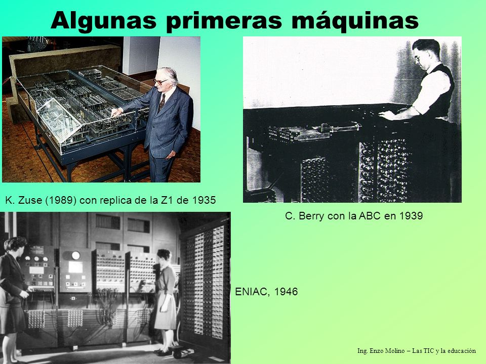 Algunas primeras máquinas