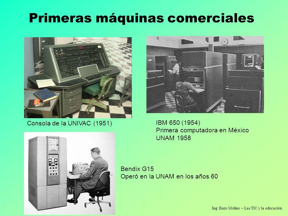 Primeras máquinas comerciales